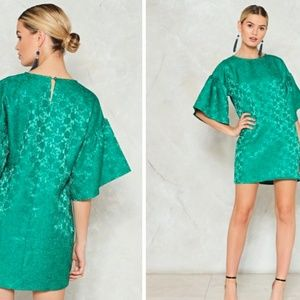 NWT Nasty Gal Please Sleeve Jacquard Dress